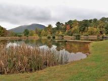 阿什县公园在杰斐逊,北卡罗来纳 免版税库存照片
