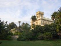 阿伦扎诺城镇厅别墅Negrotto从公园观看的坎比亚索 库存图片