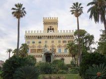 阿伦扎诺城镇厅别墅Negrotto坎比亚索和著名公园 库存照片