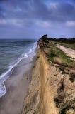 阿伦斯霍普陡峭的海岸  库存图片