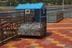阿伯丁跳船,废水瓶罐收藏容器 库存图片