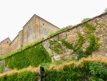 阿克什胡斯堡垒的中世纪墙壁 挪威奥斯陆 免版税库存照片