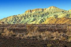 阿克套白色山 Altyn Emel国家级自然保护区 卡扎克斯坦 库存照片