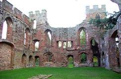 阿克屯西方burnell的城堡 免版税库存照片