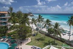 阿克拉海滩巴巴多斯印度西部 库存图片