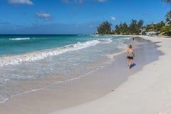 阿克拉海滩巴巴多斯印度西部 免版税库存照片