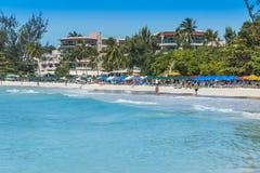 阿克拉海滩巴巴多斯印度西部 免版税库存图片