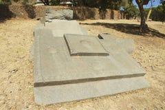 阿克苏姆,埃塞俄比亚联合国科教文组织世界遗产名录方尖碑  库存照片