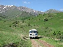 阿克苏市Djabagly国家公园在哈萨克斯坦 图库摄影