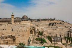 阿克萨清真寺在老城耶路撒冷以色列观看从 库存照片
