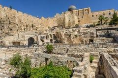 阿克萨清真寺在耶路撒冷,以色列耶路撒冷旧城  库存图片