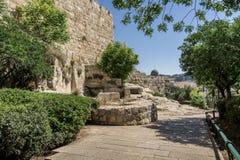 阿克萨清真寺在耶路撒冷,以色列耶路撒冷旧城  免版税库存图片