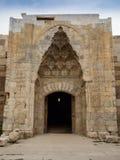 阿克萨赖-苏丹哈讷商队投宿的旅舍入口在土耳其 库存图片