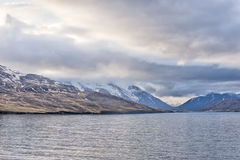 阿克雷里冰岛沿海视图 免版税库存照片