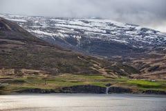 阿克雷里冰岛沿海视图 免版税图库摄影