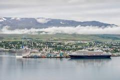 阿克雷里,冰岛 库存照片