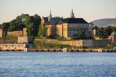 阿克什胡斯堡垒在奥斯陆,挪威 库存图片