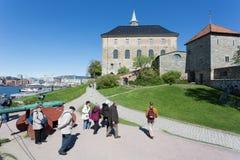 阿克什胡斯堡垒在奥斯陆 库存照片