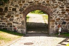 阿克什胡斯堡垒外部在奥斯陆,挪威 图库摄影
