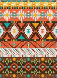阿兹台克五颜六色的几何无缝的模式 图库摄影