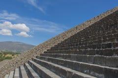 阿兹台克人废墟在中央墨西哥 免版税图库摄影