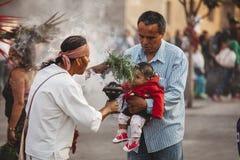 阿兹台克僧人,墨西哥城 免版税库存照片