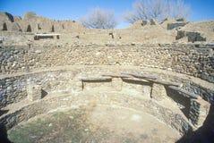 阿兹台克印地安废墟,拉普拉塔, NM 库存照片