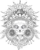 阿兹台克印地安头骨 皇族释放例证