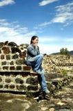 阿兹台克墨西哥破坏teotihuacan 库存照片