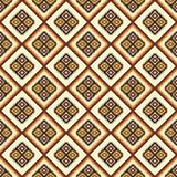 阿兹台克抽象几何艺术印刷品 无缝种族的模式 库存图片