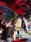 阿兹台克舞蹈家在墨西哥 免版税库存图片