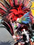 阿兹台克舞蹈家在墨西哥 免版税库存照片