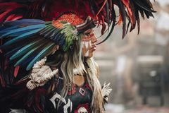 阿兹台克舞蹈,墨西哥城 库存照片