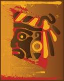 阿兹台克血液印地安人 免版税库存图片