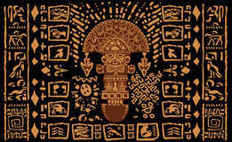 阿兹台克装饰部族元素和标志 免版税图库摄影
