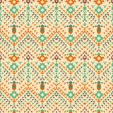 阿兹台克部族无缝的样式 设计几何 免版税库存图片
