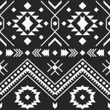 阿兹台克部族样式 设计几何 库存例证