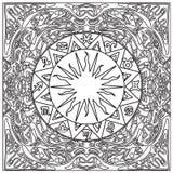 阿兹台克部族着色框架zentangle 免版税库存图片