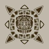 阿兹台克面孔设计 免版税库存图片