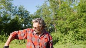 阿切尔在森林里 股票视频