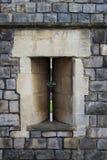 阿切尔在温莎城堡墙壁的` s漏洞 图库摄影