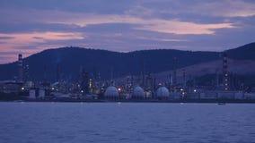 阿利亚加炼油厂,石油化学的汽油植物,伊兹密尔,火鸡, timelapse 股票录像