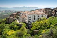 阿利亚诺,巴斯利卡塔,意大利看法  免版税图库摄影