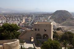 阿利坎特城堡西班牙视图 库存图片