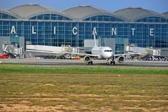 阿利坎特机场西班牙 免版税库存照片