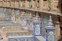 阿利坎特武装陶瓷coat de decoration西班牙著名广场塞维利亚西班牙主题 老地标 免版税库存图片