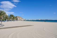 阿利坎特海滩 免版税库存图片