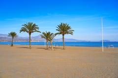 阿利坎特海滩playa西班牙圣胡安  免版税库存图片
