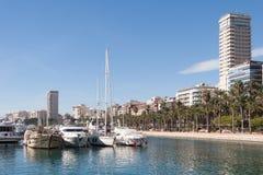 阿利坎特,西班牙港口  库存照片