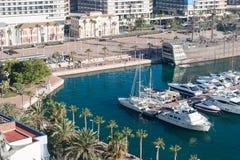 阿利坎特,西班牙港口  免版税库存图片